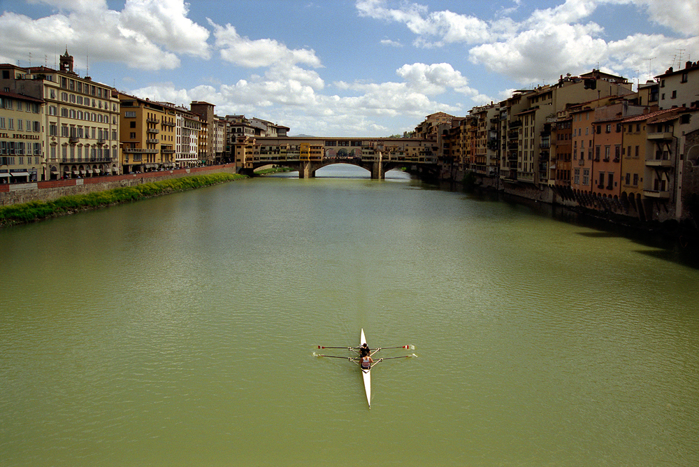 Scull on the Arno