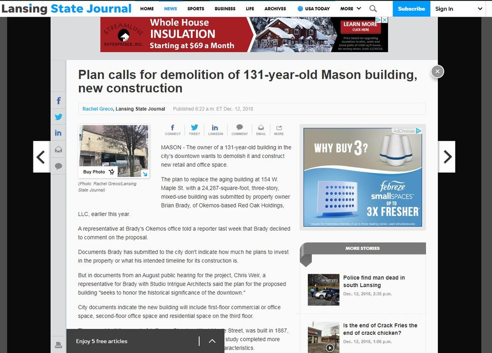 Plans call for demolition of 131 year old Mason Building.JPG