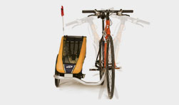 We CAN afford this awesome sidecar trailer, so we are going for it! (via Chariot Carriers: Bike Trailers, Jogging Strollers and more, for bicycle riders and joggers)