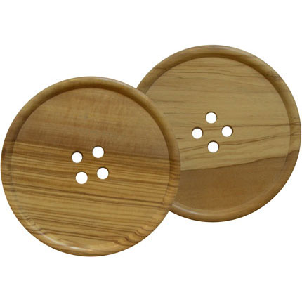 My love of buttons has led me to these $44 coasters.  I wish they came in a tray size. Eden & Eden | Button Coasters
