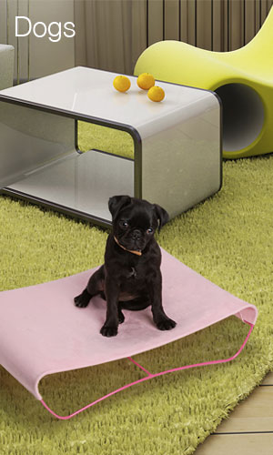 almost makes you want to buy a pet.   Hepper Wave Dog Bed