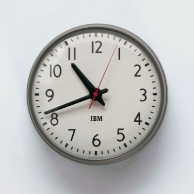 "I've been looking for this clock for years. Schoolhouse Electric just partnered with IBM to re-release it. Fantastic. Unfortunately $235.   (via  1960s IBM 13.5"" Standard Issue Clock )"