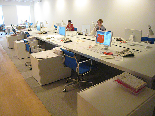 I've added several photos of my workplace - the Maharam Showroom - so everyone can see what working in the Merchandise Mart is like.