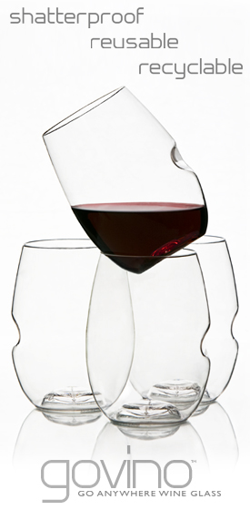 Non-breakable wine glasses would be perfect for spring outdoor entertaining - last year we chipped two.  And these have a great design, that most acrylic glasses lack.
