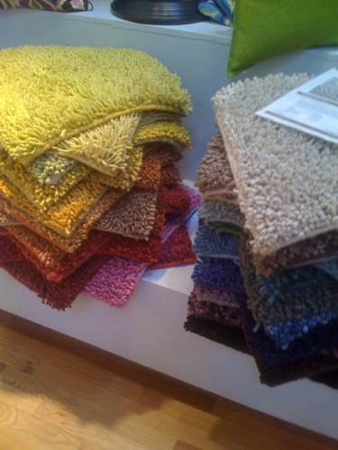 Anemone rugs at Stitch on Damen. Beautiful range of colors.
