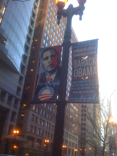 Fantastic banners I saw today while walking on LaSalle.