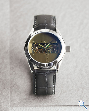 Love.   (via  Android Modern Leather Watch - Garnet Hill )