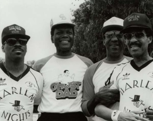 awesomepeoplehangingouttogether :     Eddie Murphy, Sidney Poitier, Bill Cosby, and Richard Pryor