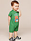 I've always liked Hanna Andersen's girls clothing, but I had no idea that they had a really cute selection for little boys. And not super expensive. These rompers with robots and aliens are great for $28. (via Get Appy Romper Product Information)