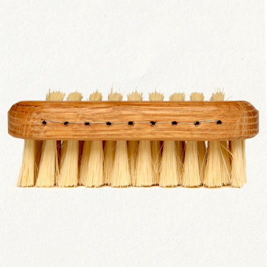 We have a bad version of this in the downstairs bath, and I'd like to have a nice one next to the sink for cleaning up after gardening, etc.  This one is made by visually impaired craftsmen for terrain - $18.    terrain: Natural Nail Brush