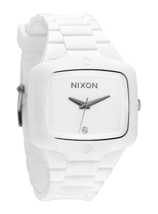 On the hunt again for watches I like, that are big but professional. Saw several people in NYC with white watches.  I really like the look - and Nixon is a great company.    Nixon's Women's Watches online at NixonNow.com