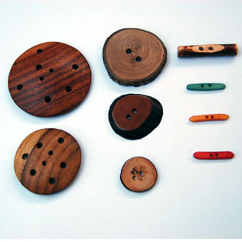 ReForm School is one of my favorite online shops for finding unique handmade twists on everyday items.  This button set is great - would be a nice addition to the knitting basket for the occasional needed closure. $28.00    ReForm School: Wooden Button Set