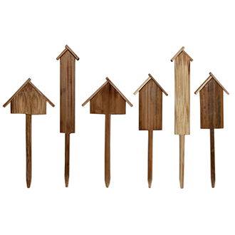 Turns out I love pretty much everything in this online store, especially the garden section.  But, these really stuck out to me, because they are so simple and cute and functional.  And not that expensive - $12 for a set of 6.  terrain: Bamboo Garden Markers