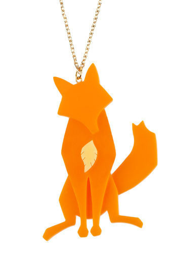 Todd = Fox cool large pendant with a creative name $44 at ModCloth    Aesop's Fable Necklace in Fox-Mod Retro Indie Clothing & Vintage Clothes