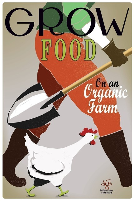 Love this!  Would hang it next to the worm compost poster we have in the entrance to the mudroom! $12 for a 12x18in print on Etsy Grow Food poster art by joeseppi on Etsy