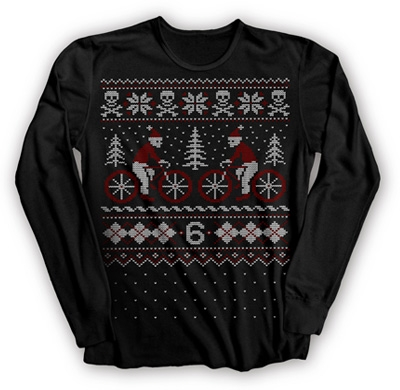 Too bad this thermal tee is sold out at Twin Six - I really like the cycling/yuletide graphic with the crafty aesthetic, made especially for women.    YULE TIDE T (W) - Women's Casual - TWIN SIX - Alternative Cycling Apparel