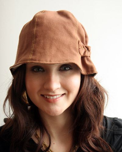 Am loving this cloche hat by local designer Squasht.  For some reason fall weather and fun hats just go together in my head.  This one is reversible, and $54. Squasht by Les