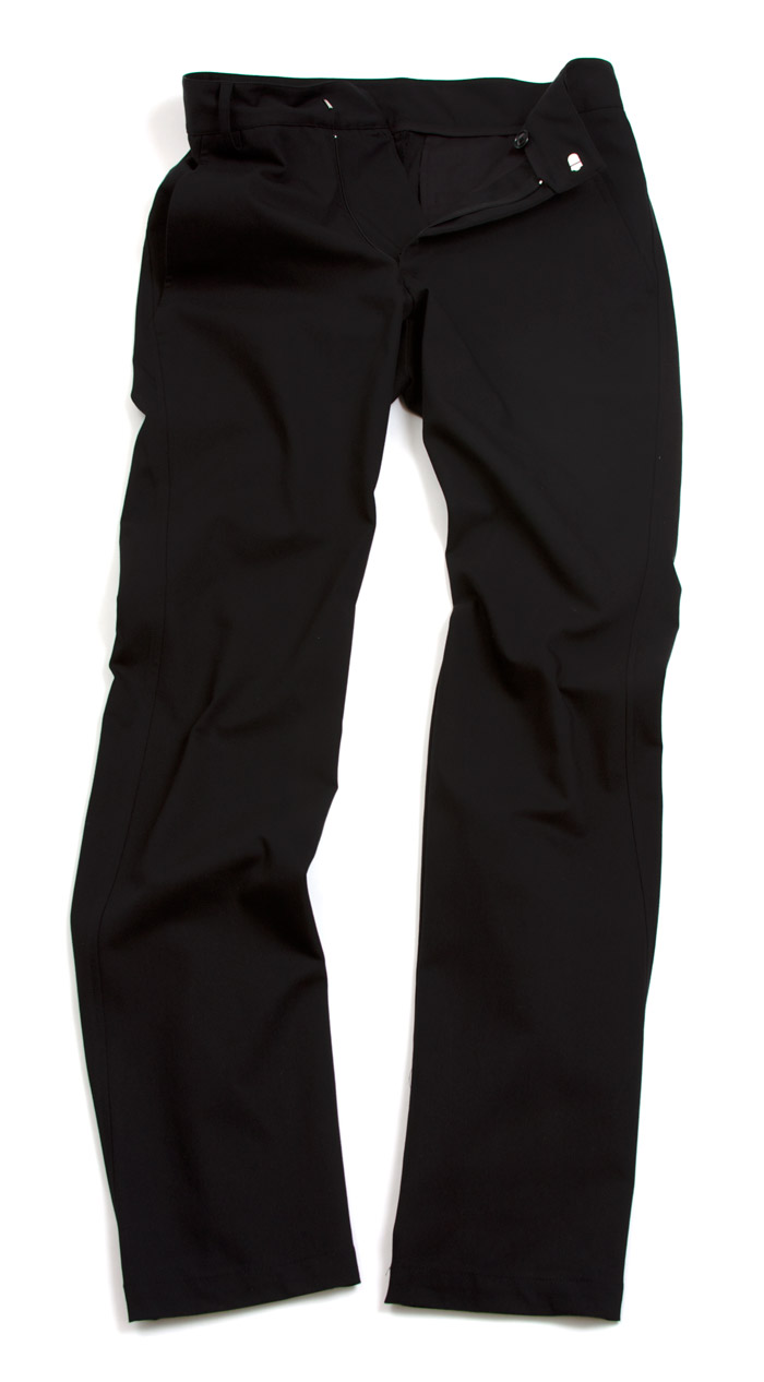 Really wish these pants weren't $180.  Made by Outlier in NYC, they look to be awesome bike to the office pants.  They are self-cleaning, water, grease, and abrasion resistant.  The stretch fabric is breathable.  They sound perfect. OUTLIER: 4Season OG Pants