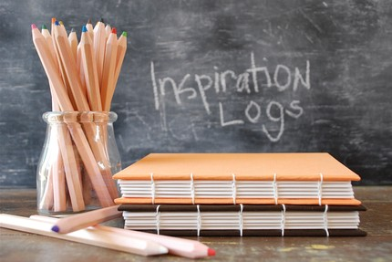"I am loving this little Etsy shop that sells handbound books.  And this coptic bound ""inspiration log"" is only $20. Etsy :: paperandtwine :: inspiration log -mocha"