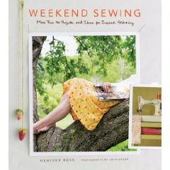 I'd love to get my hands on this book.  I've been itching to sew something for awhile now, and this looks like great inspiration.  And quick projects are key! Currently $18.15 at Amazon.    Amazon.com: Weekend Sewing: More Than 40 Projects and Ideas for Inspired Stitching: Heather Ross, John Gruen: Books