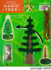 I remember having one of these colorful crystal kits as a kid - I think it was a pirate ship or something along those lines as a base.  It was pretty fun.  I didn't realize they were so inexpensive - $9. fredflare.com | magic christmas tree