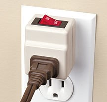 Genius idea.  I need one of these for my cell-phone charger.  Only $5.    Harriet Carter Holiday Store Gadget Gurus Outlet Switch