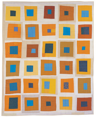 One day I will certainly make a quilt.  One day.  In the meantime, I will be inspired by these works of art by Denise Schmidt.  Definitely worth looking through the galleries.    Denyse Schmidt Quilts | The Goods