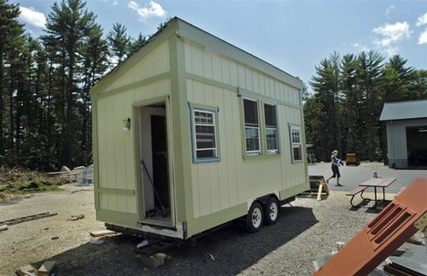 After posting about tiny houses a few weeks ago, its exciting to see that this twenty-something built her own.  It doesn't mention anywhere about her water line access, but electricity is covered through solar panels, and heat through propane. This is a project I'd love to undertake one day. Yale Student To Bring Her Own Little House To Campus — Courant.com