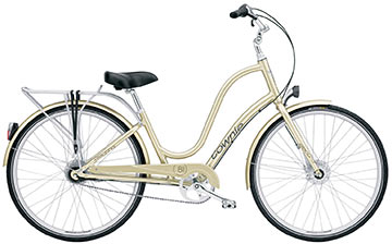 If this bike goes on sale, I would love to have it.  Looks perfect for getting to work in a skirt and heels. It doesn't say how heavy it is, but it can't be worse than lugging my current bike up 3 flights (not that I do it twice a day everyday, like my husband…) Currently $850.    Electra Women's Townie Commuter 8 - Kozy's bike shop