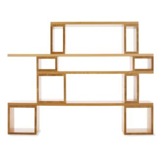 Fantastically simple design, made from sustainable materials.  I really love this.   Not quite sure how the pricing scheme works, but looks like it might be reasonable (for Design Within Reach, anyway.)    Modular Shelving Unit Box - Douglas.Fir - Design Within Reach