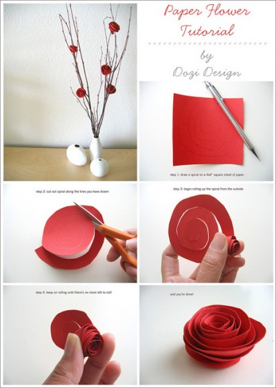 Just ran across this fantastic site, Whip Up, with links to lots of craft tutorials - many, very functional objects.  This paper flower one is a little more decorative, but I could see it being a good gift decoration (though I doubt mine turn out as great as these.)    whip up