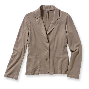 Patagonia is having a web clearance sale right now and I love this blazer.  It really screams casual friday office to me, as well as several other multi-purpose uses that they describe.  And at 47% organic cotton, 39% Tencel, 14% recycled polyester, its almost good for the environment!    Patagonia Women's Brushed Vitaliti Blazer