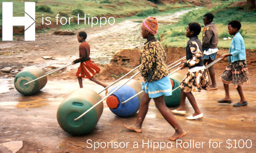 "wow.  great design.  great cause.   "" The  Hippo Roller  is a simple rolling barrel device that allows the millions whose livelihoods depend on the daily fetching of water to more easily access and transport their daily water supply, and reduce the risk of long-term bodily injuries. The roller holds 3-4 days worth of water for a family of 7, about 5 times the amount of water that can be moved using traditional methods, which frees up time for more productive economic and educational activities. It's an amazing product and an amazing story of good design enabling communities.""    Project H Design"