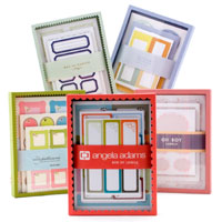 See Jane Work is one of my favorite office supply online stores.  And I absolutely love these labels, by Angela Adams, though I could never commit to the price. Box of Labels - Clips, Labels & Bands - See Jane Work