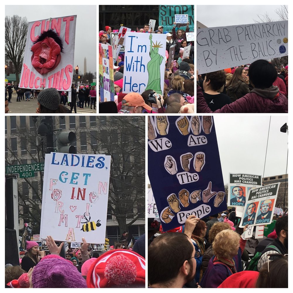 So many great and pointed signs throughout the day.
