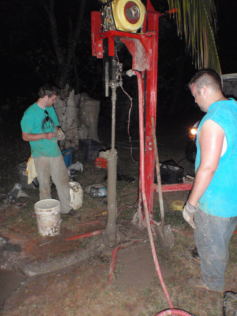 The first well we ever drilled, clogged with clay. A learning experience that I will never forget.