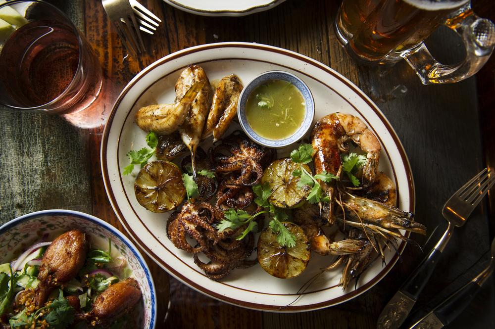 Bangsaen Seafood Platter