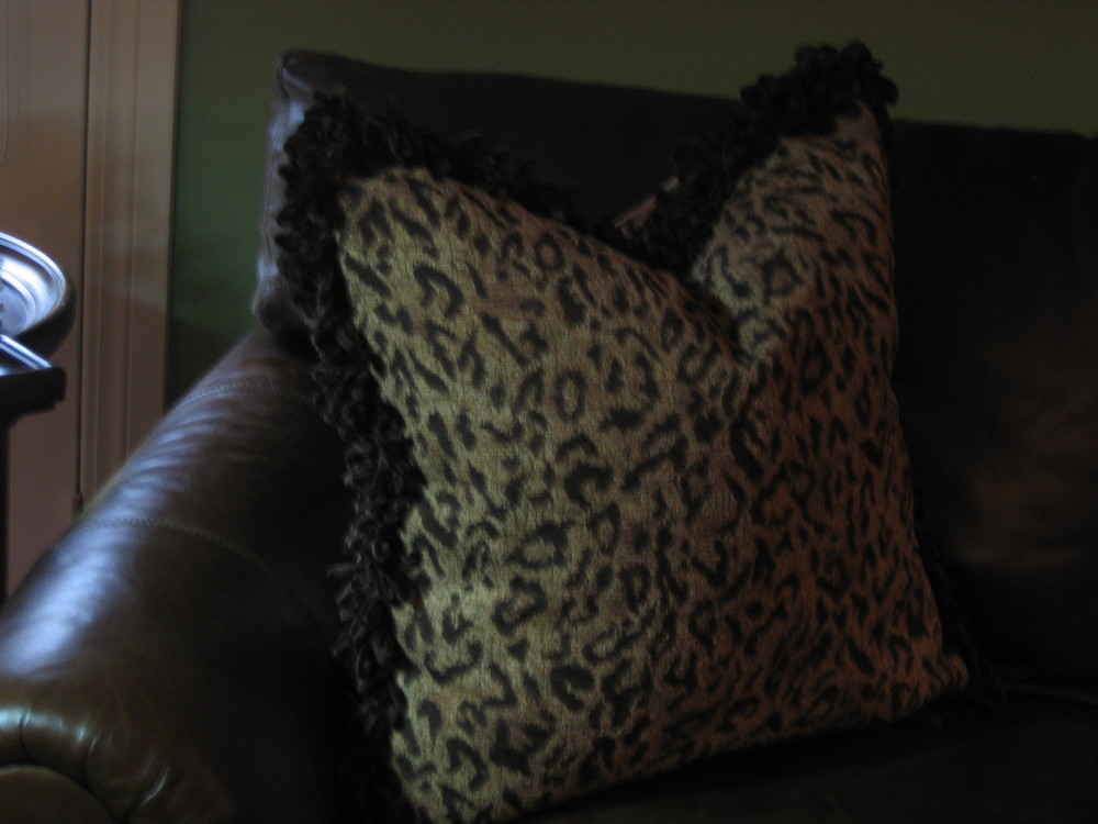 Decorative Throw Pillow w/Velour Loop Fringe.