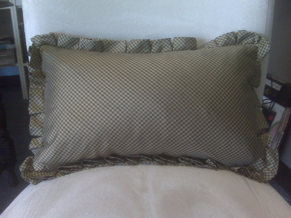 Close up shot of Box Pleated Lumbar Pillow