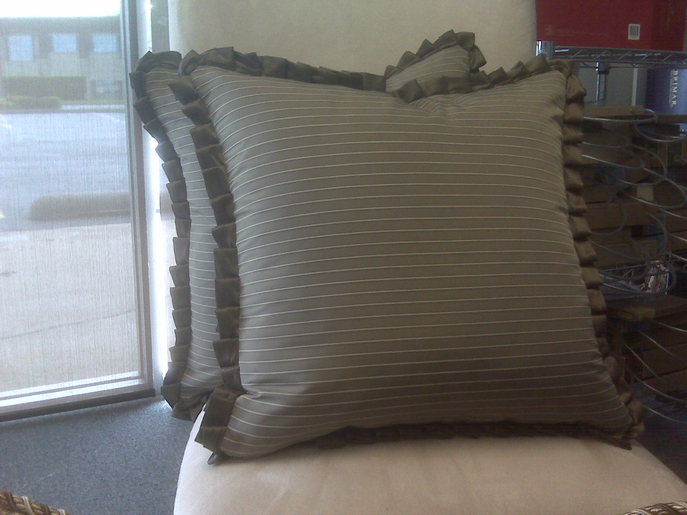 Close up shot of Knife Pleated Ruffled Pillow
