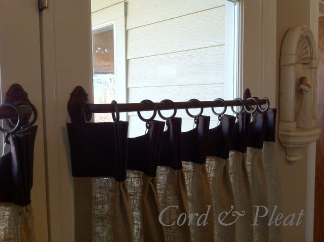 We love the french rods (wraparound rod) that we used on the french doors! Perfect for this festive holiday project.