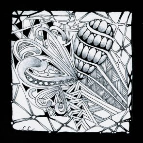 Cheryl Cianci is a talented artist and teacher of Zentangle, a meditative form of art work where doodles are repeated in a pattern to create small works of art that can be used in many ways. Classes are forming and there is a minimum of 5 students per class to run, so if you are interested call and we will put you on our list! Tea and food is served with our art classes making them an all around relaxing fun and inspiring experience!