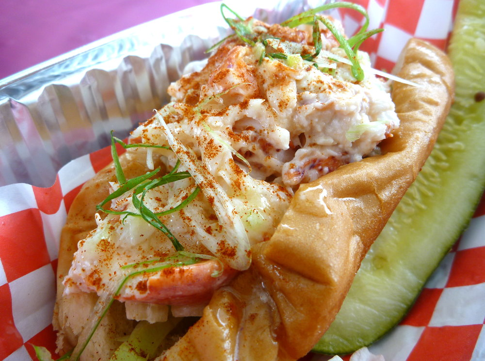 Lobster roll catered by Red Hook Lobster Pound