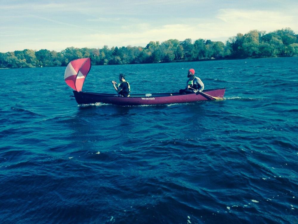 Winchell and Matt on Big Fish Lake