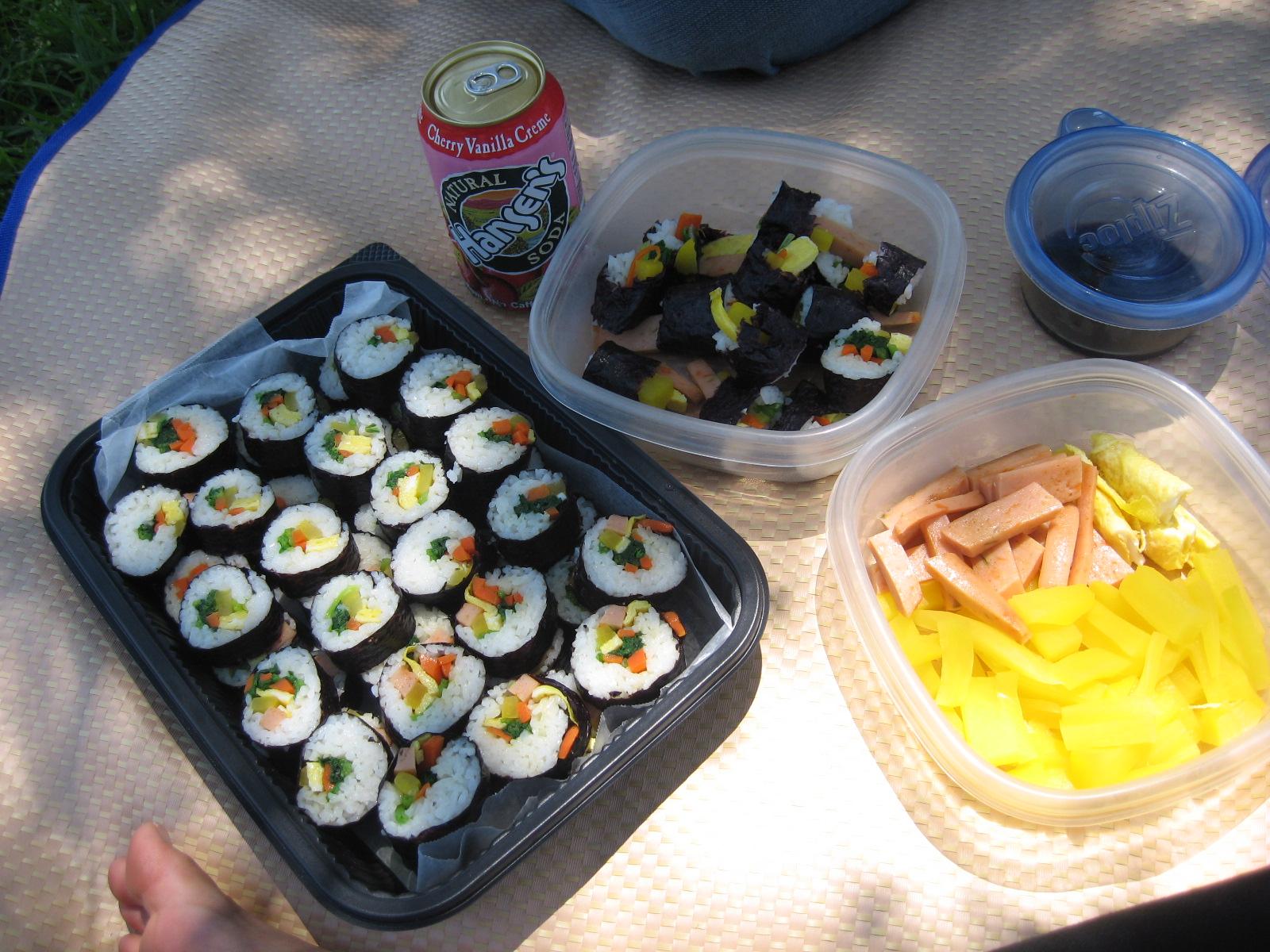 Korean style picnic!