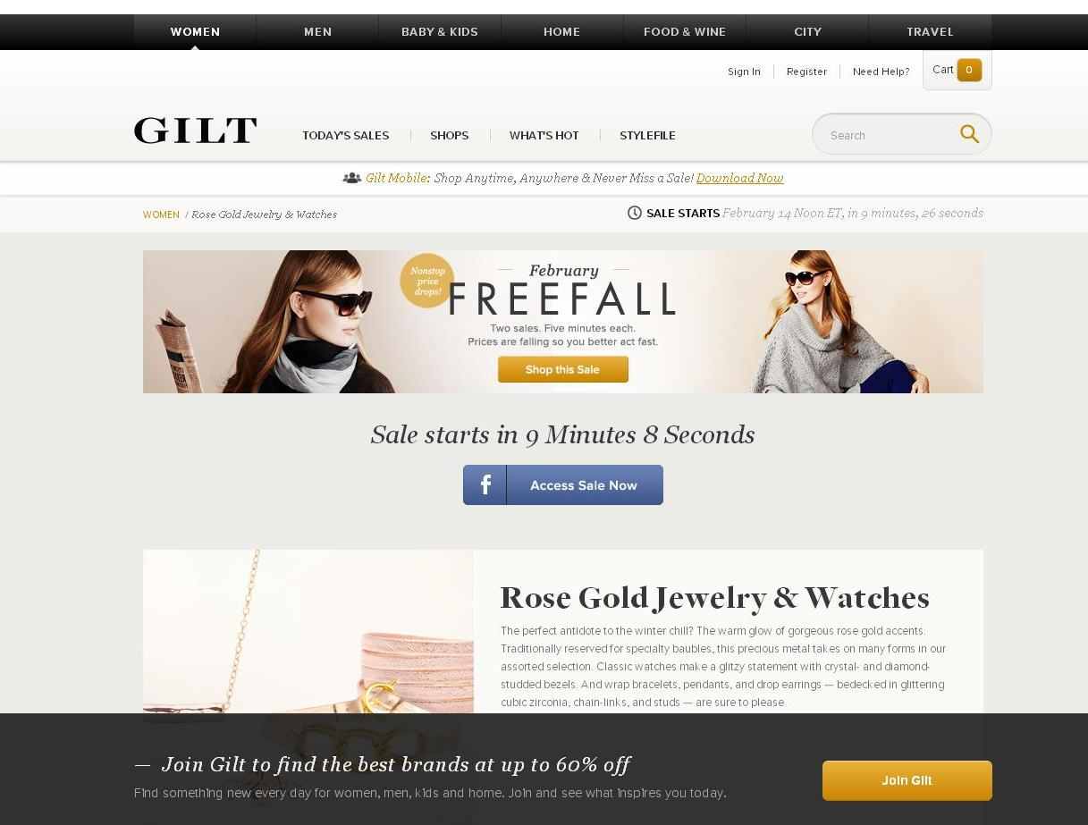 Rose Gold Jewelry on Gilt