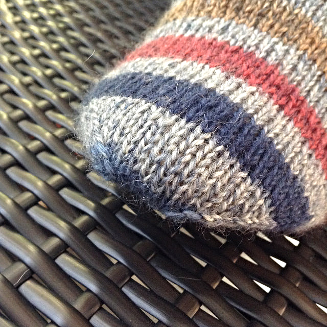 My Stripey Socks, toe grafted with Jenny's Easy Graft method.