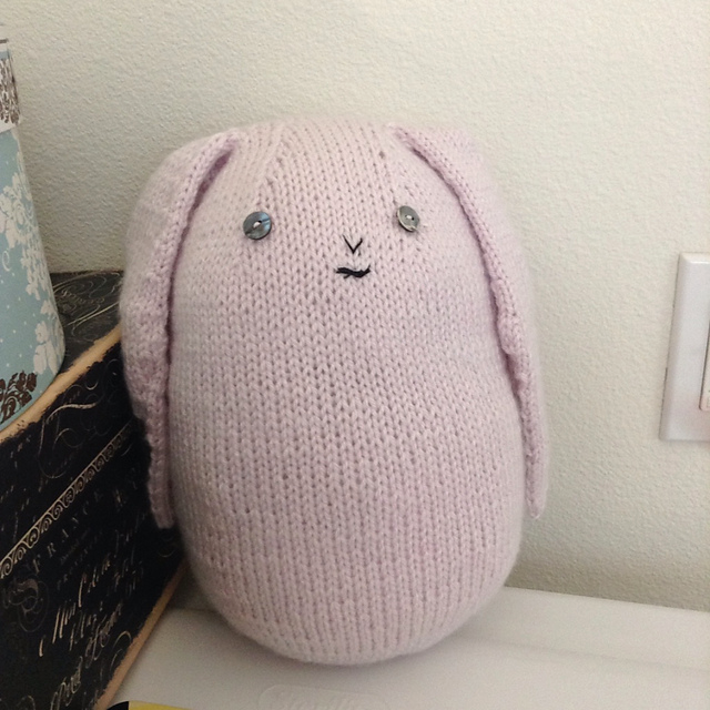 Big Rabbit.  Big Cuddly Bunny,  Purl Bee website's free pattern.