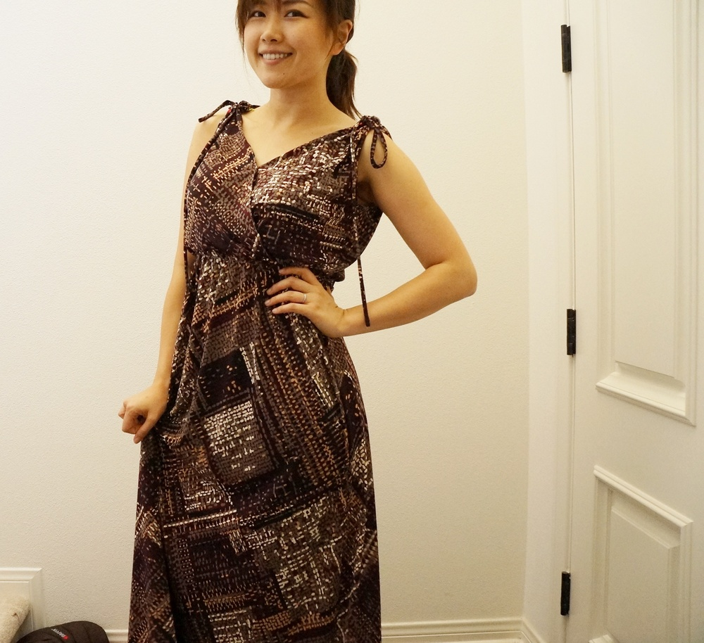 A knit dress I made out of $2/yd fabric from FIDM store.