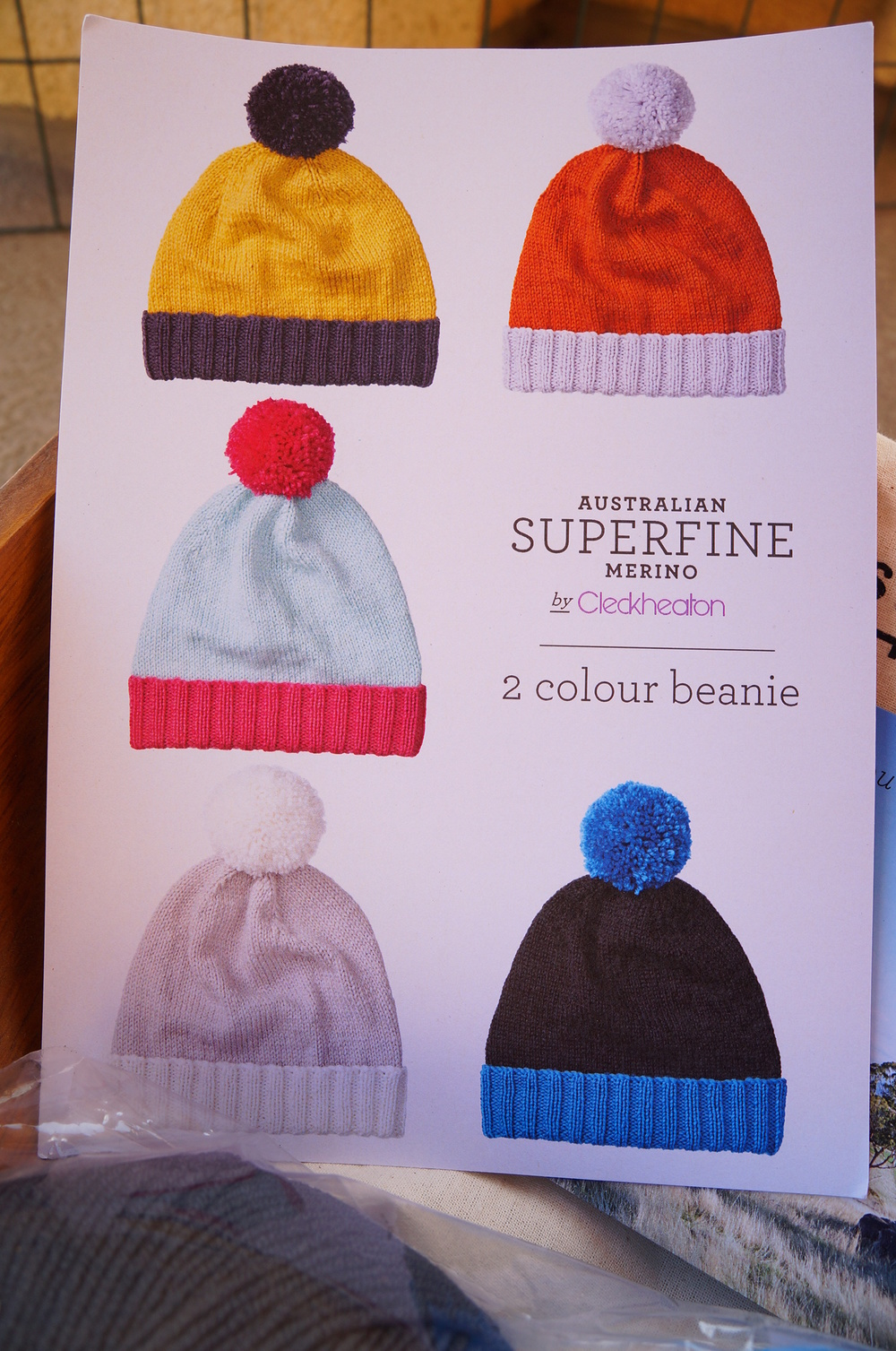 FREE pattern from Cleckheaton website: 2-Colour Beanie in Australian Superfine Merino